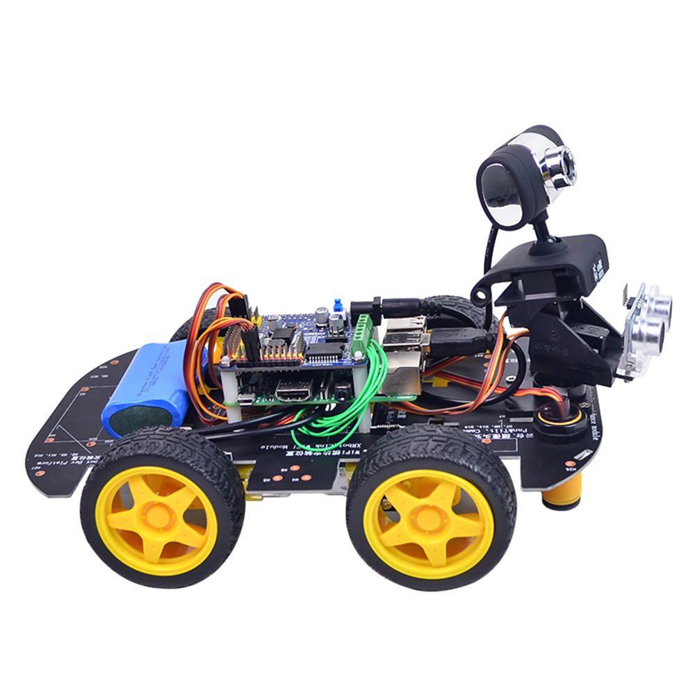 EEN US$162.99 Xiao R GFS DIY Smart Programmable RC Robot Car Wifi Bluetooth APP/Stick Control With HD Camera Raspberry Pi 4B Board