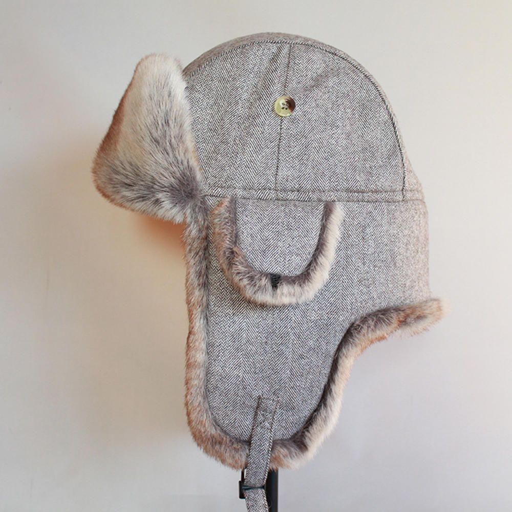 PIP US$27.25 Trapper Hat Solid Color Outdoor Riding Russian Thick Earmuffs Warm Cotton Hat