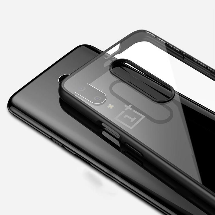 HQQ US$7.05 IPAKY Armor Transparent Shockproof PC+Soft TPU Edge Shell Protective Case for Oneplus 7