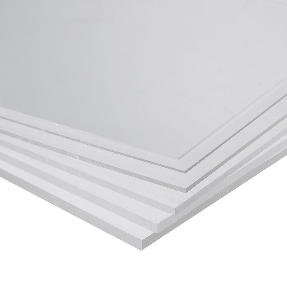 CAQ US$3.20~6.70 200x300mm PMMA Acrylic Transparent Sheet Acrylic Plate Perspex Gloss Board Cut Panel 0.5-5mm Thickness