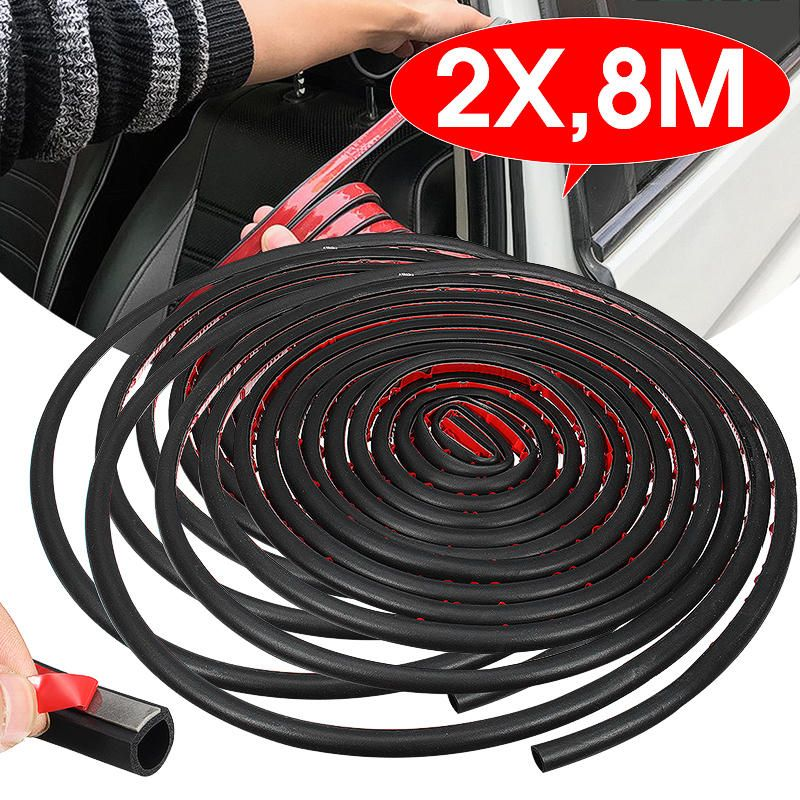 DUW US$11.84 8M Large D Shape Sealing Strip Car Door Window Trim Edge Moulding Rubber Black