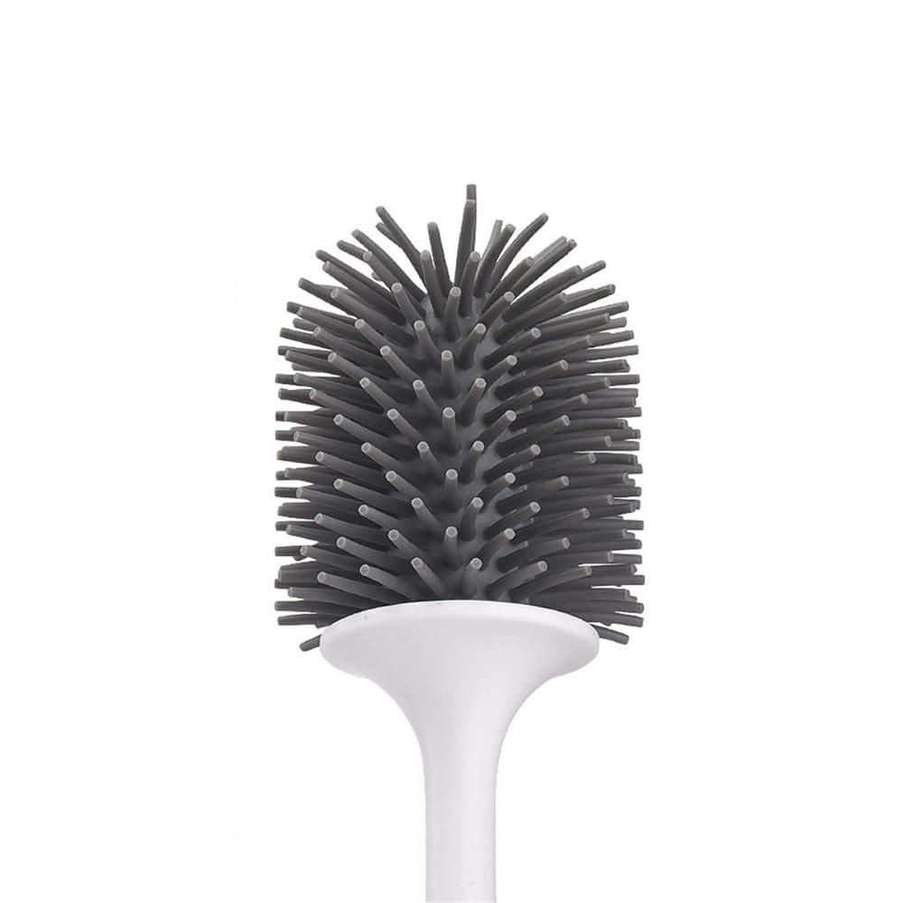 OHD US$14.58 Ecoco Silicone Toilet Brush Soft Bristle Wall-Mounted Bathroom Toilet Brush Holder Set Clean Tool Durable Thermo Plastic Rubber