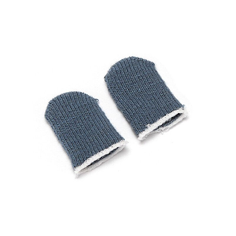 HQX US$2.00 2 Pcs Professional Sleep-proof Sweat-proof Touch Screen Thumbs Finger Sleeve Gloves for PUBG Mobile Games for iPhone Android