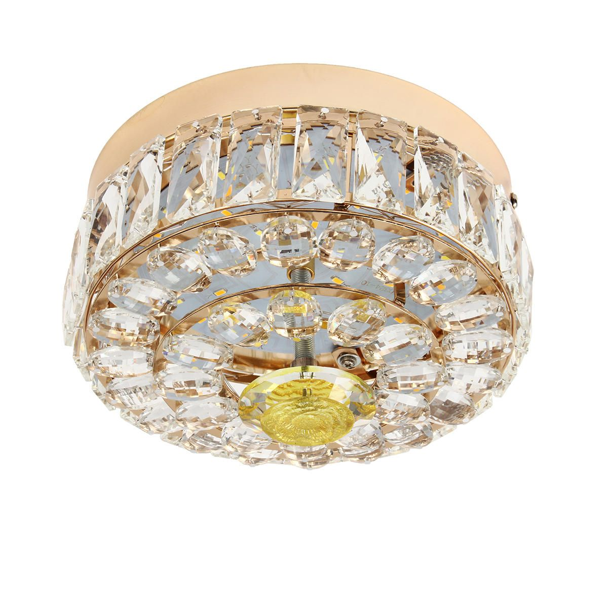 MEJ US$47.19 Modern Gold Round Crystal Ceiling Chandelier Light Pendant Fixture Home Decor