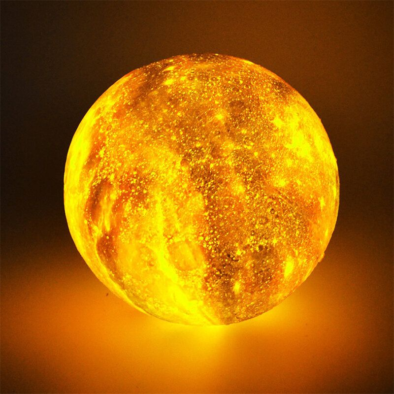 XKZ US$22.87~37.87  3D Printing Moon Lamp Space LED Night Light Remote Control / Touch/ Pat Contorl Lamp USB Charge Valentine Gift