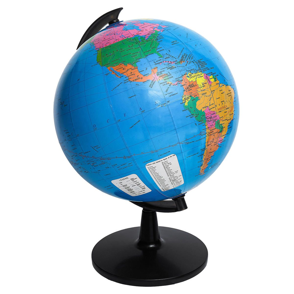 MYM US$44.42 KingSo World Globe 12.6'' Globe of Perfect Spinning Globe for Kids Geography Students Teachers, Easy Rotating Swivel