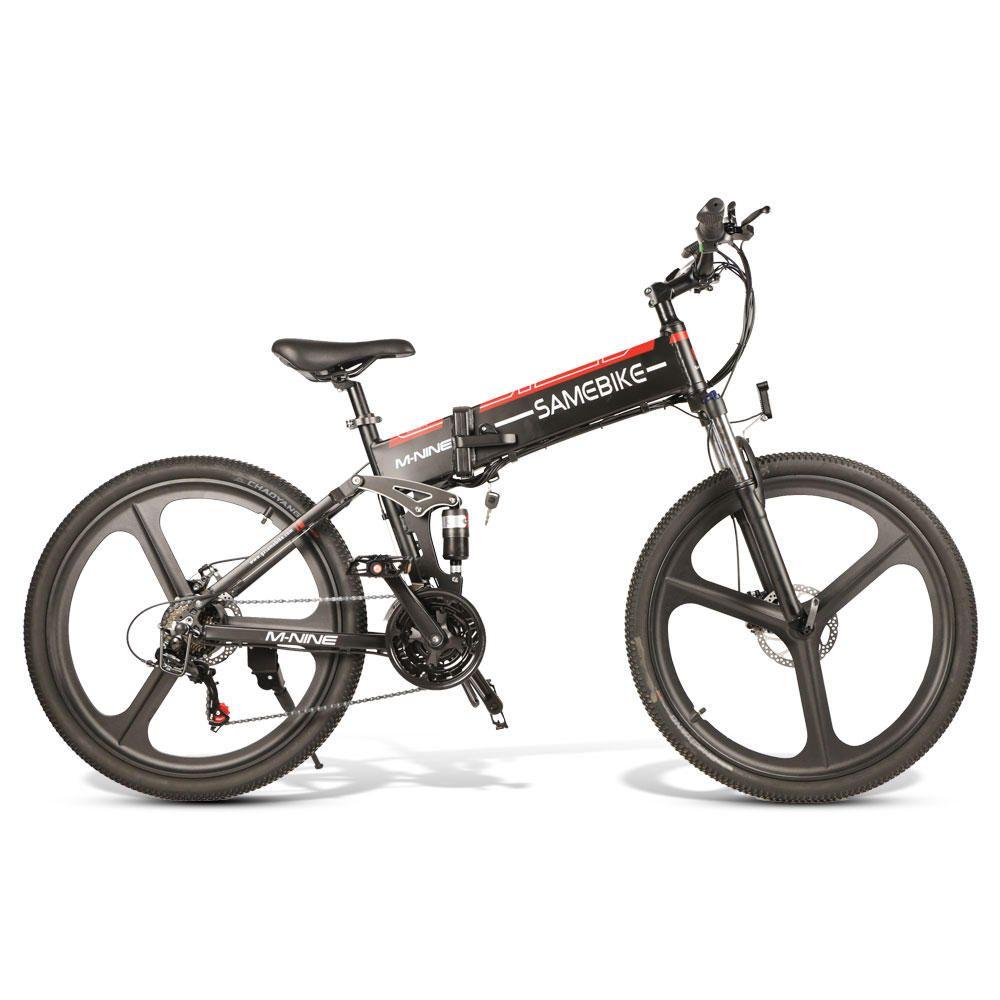 NQB US$999.00 [EU Direct] SAMEBIKE LO26 10.4Ah 48V 350W Moped Electric Bike 26 Inches Smart Folding Bike 35km/h Max Speed 80km Mileage Max Load 150kg With EU Plug