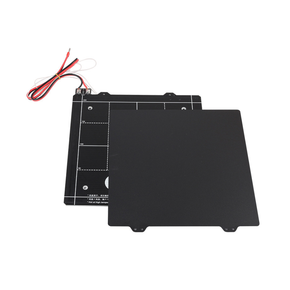 PSW US$67.25 235*235mm 24V Magnetic Heated bed Platform with Black PEI Power Steel Hotbed Plate for 3D Printer