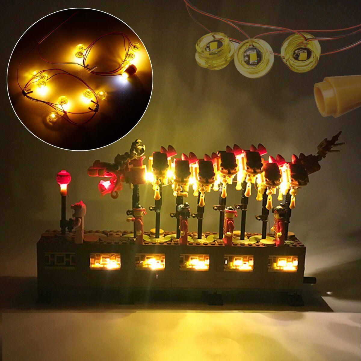KNR US$25.87 DIY LED Light Lighting Kit For LEGO 80102 Chinese New Year Dragon Dance Bricks Toys