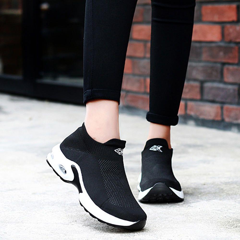 VZQ US$39.99  Women Light Mesh Walking Casual Comfy Slip On Sneakers