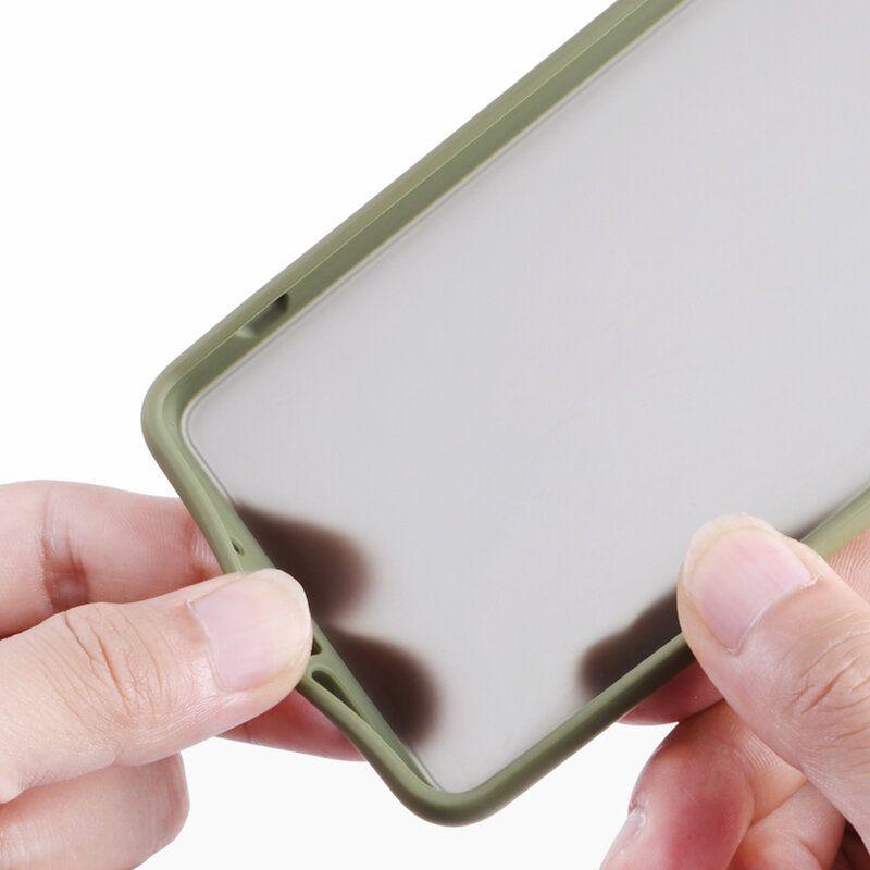 JQC US$4.73 For OnePlus 7 Case Bakeey Armor Shockproof Anti-fingerprint Matte Translucent Hard PC&Soft TPU Edge Protective Case