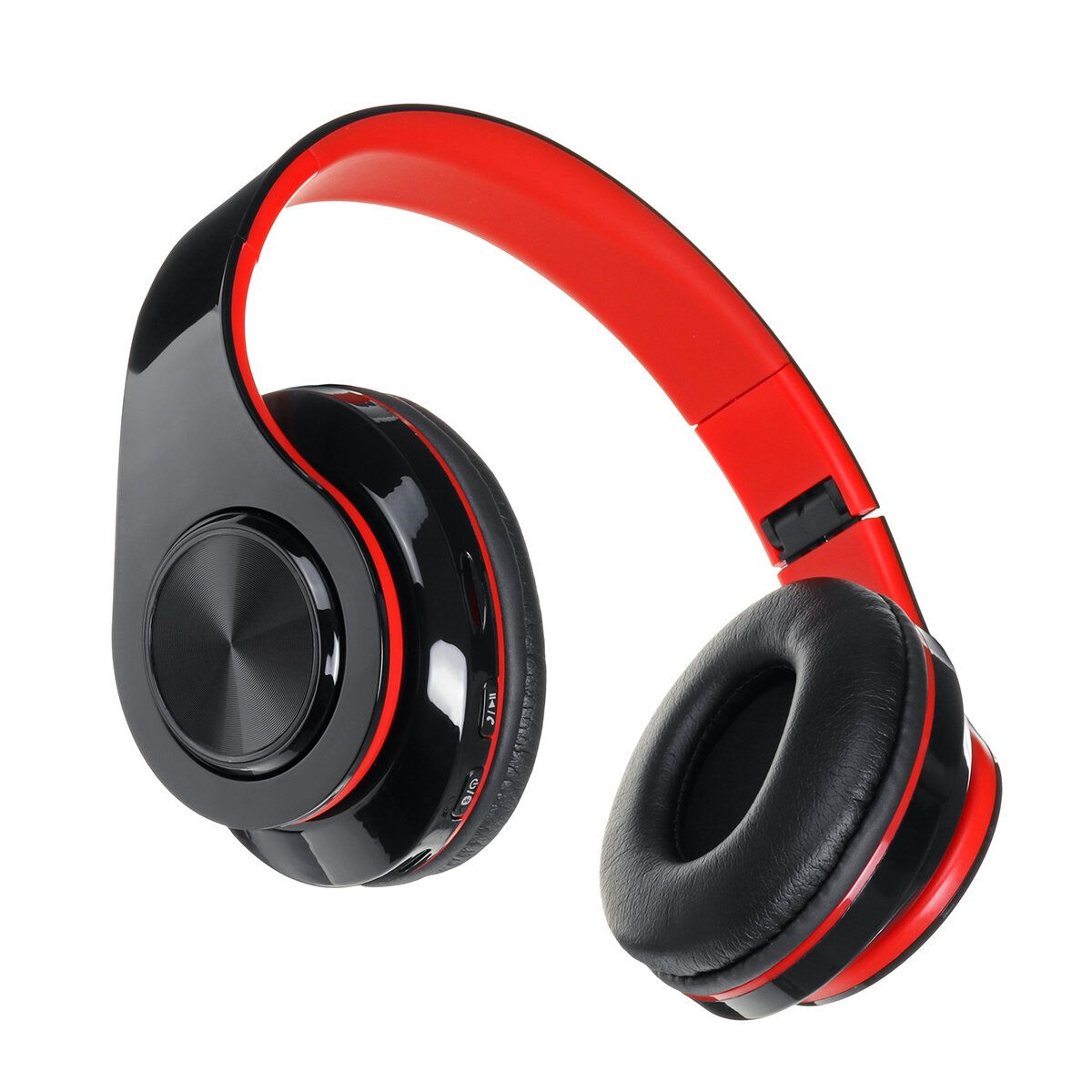 FYS US$17.69 Luminous LED bluetooth 5.0 Headset Foldable Long Capacity Noise Reduction Call Headphone Support FM TF Card