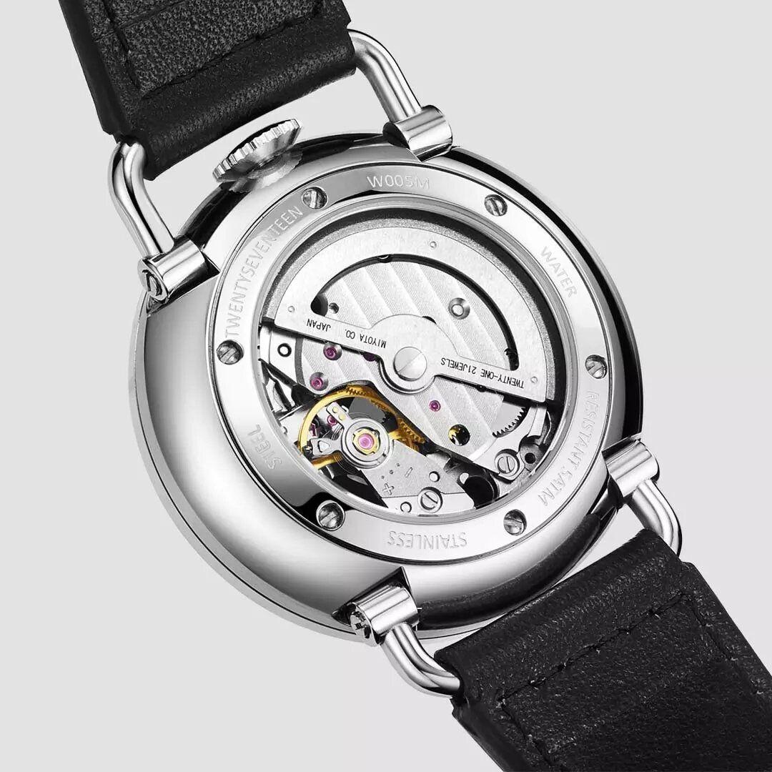 XMI US$201.98 TwentySeventeen QingPai Pinwei Series Business Double Dial Genuine Leather Strap Men Automatic Mechanical Watch from Xiaomi Youpin