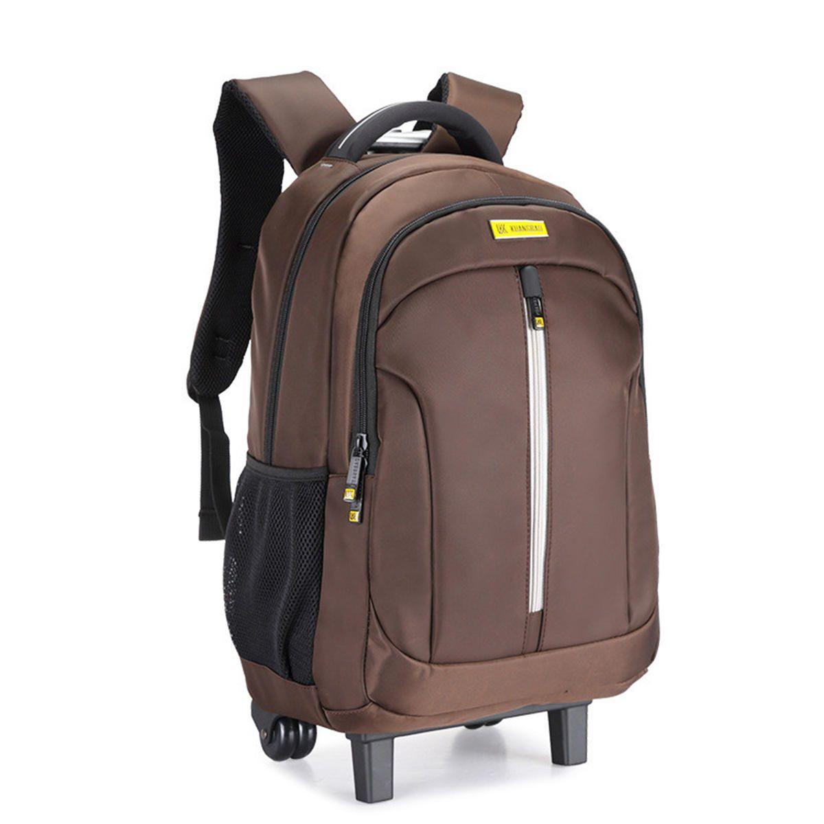 NDX US$57.45 19Inch Waterproof Wheeled Trolley Backpack Laptop Suitcase Luggage Rucksack Traveling Stroage Bags