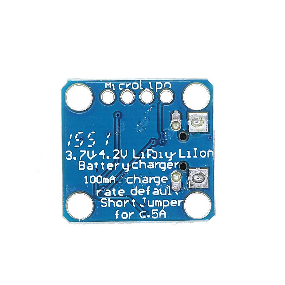 PAH US$36.39 5pcs 3.7V 4.2V 5V 100mA Micro-Lipo Charger USB Battery Charging Board Micro-B Connector Lithium for LiPoLiIon V1
