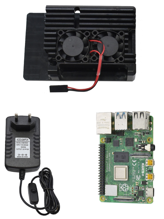 GWN US$121.18 4G RAM Raspberry Pi 4 Model B Mainboard + Black/Gold/Sliver Aluminum CNC Alloy Protective Case + Double Cooling Fan+ 5V3A Power Supply EU Plug DIY Kit For Raspberry Pi