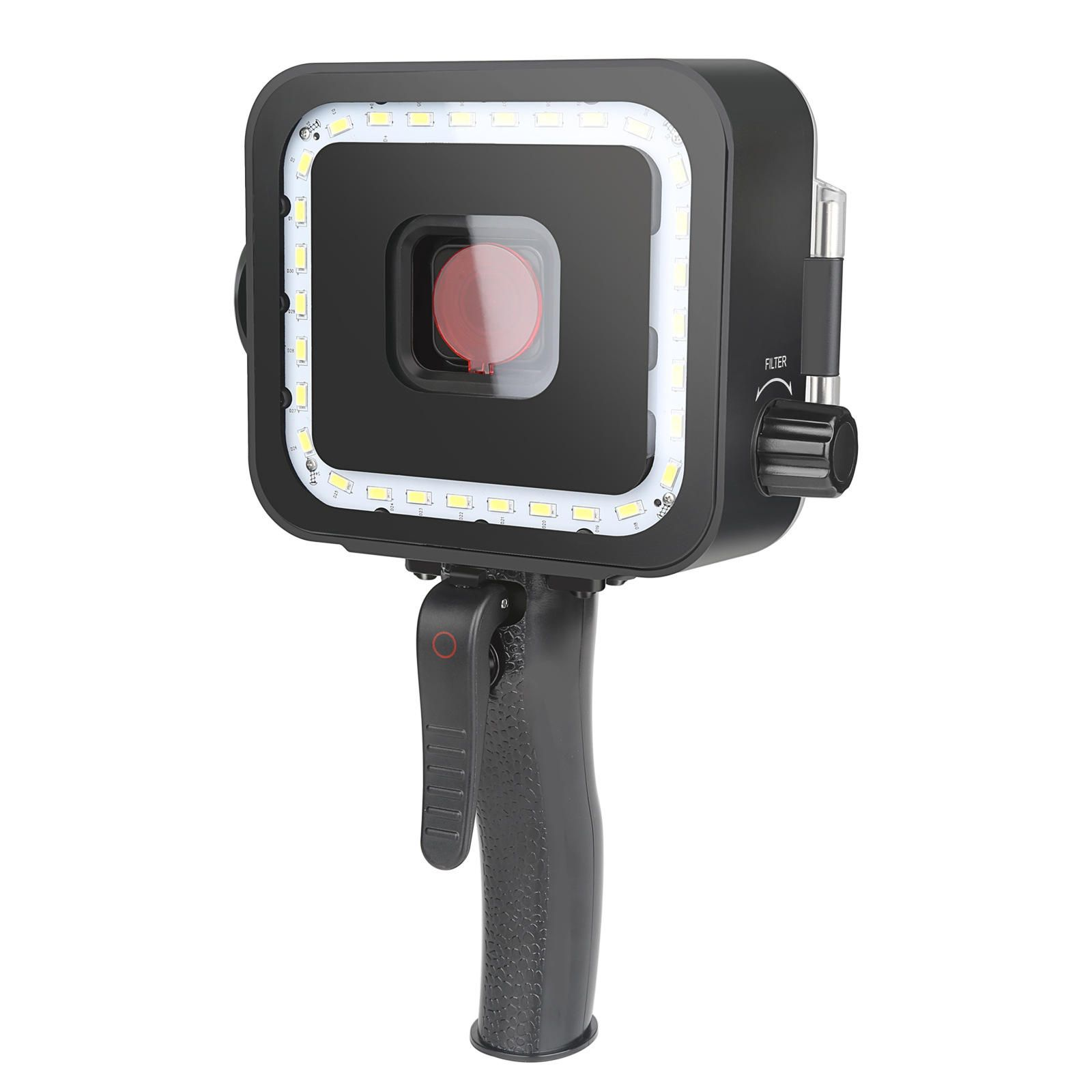 IJN US$50.48 Shoot XTGP540 35M Waterproof LED Lamp Diving Video Light with Red Filter for GoPro Hero 7 6 5 Black Action Sports Camera