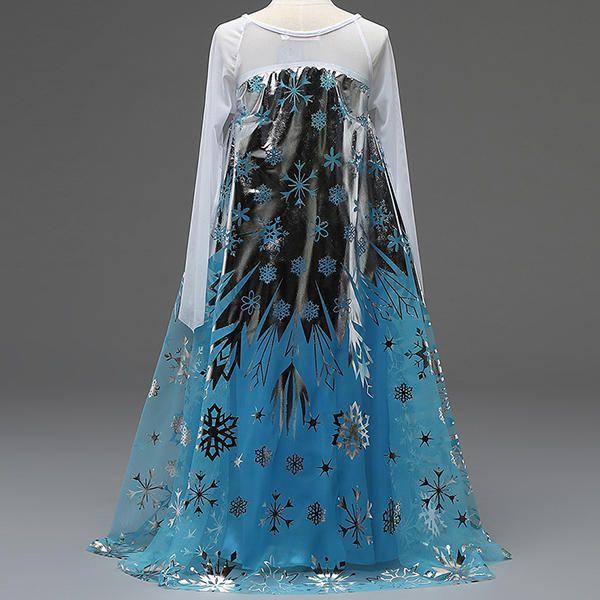 HGW US$14.99 Halloween Kid Girls Sequins Stitching Frozen Princess Cosplay Costume
