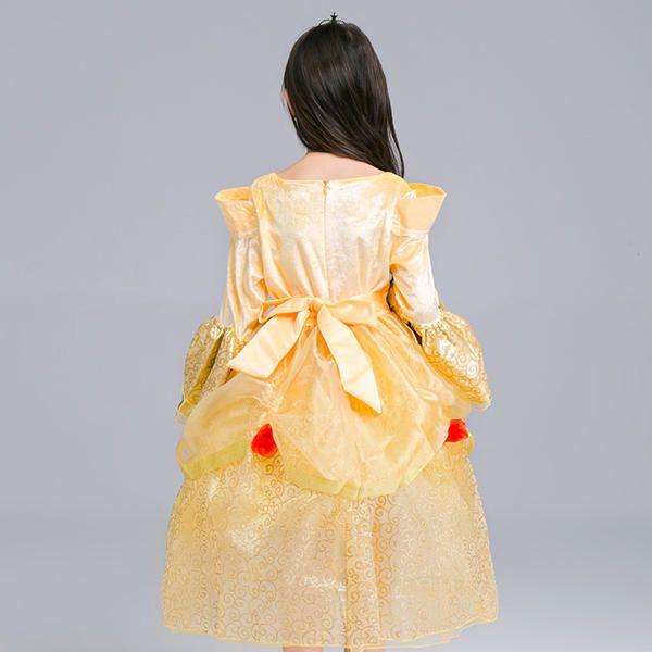 VWC US$37.87 Kid Girls Bell Sleeve O-Neck Fancy Princess Dress
