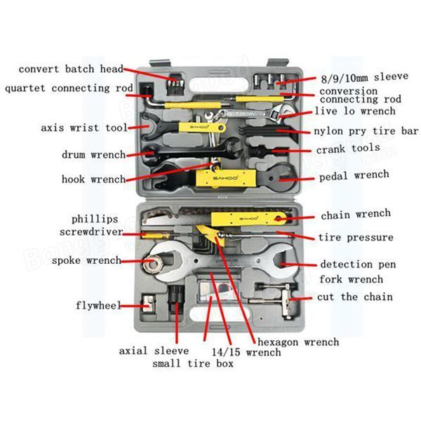 XTT US$95.51 SAHOO Mulit Function Bike Tool Bag Cycling Bicycle Repair Kit