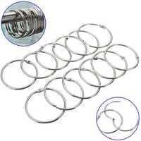12Pcs Stainless Steel Circle Shower Curtain Hook Bath Curtain Glide Hanger