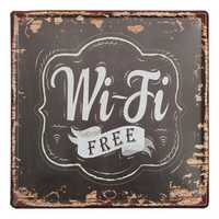 Wifi Free Tin Sign Vintage Metal Plaque Poster Bar Pub Home Wall Decor