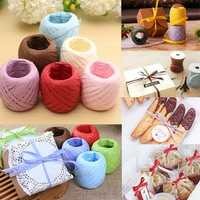 20m Color Raffia Paper Ribbon Decorating Flower Gift Craft Scrapbook Wrapping