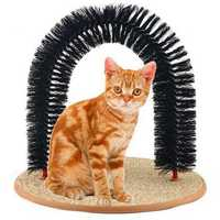 Cat Self-Groomer Arch Bristles Kitten Massager Scratcher Carpet