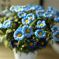 4 Colors 8 Heads Handmade Daisy Artificial Flowers Simulation Daisy Home Decor