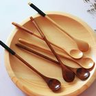 Acheter Long Handle Wooden Mixing Spoon Tie Wire Round Handle Ladle Stirring Spoon