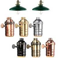 E27 Light Socket Vintage Edison Pendant lamp holder With Knob 110-220V