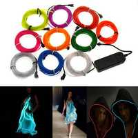 4M 10 colors 3V Flexible Neon EL Wire Light Dance Party Decor Light