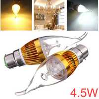 Dimmable B22 4.5W White/Warm White LED Chandelier Candle Light Bulb