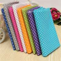 Colorful Dot 7 Assorted Pre Cut Cotton Patchwork Fabric Square Quilting Set