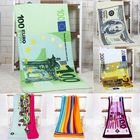 Offres Flash 70x140cm Absorbent Microfiber Beach Towels Creative Design Print Quick Dry Bath Towel