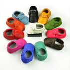 Flash Offers Baby Newborn Tassels Leather Shoes Soft Anti-slip Prewalker