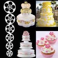 6Pcs Plum Flower Fondant Cake Sugarcraft Cutter Mold