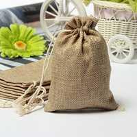 Faux Burlap Hessian Mini Bags Rustic Wedding Favor Gift Bag