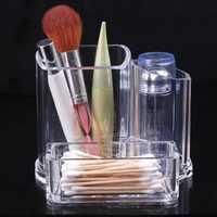 Clear Acrylic Makeup Cosmetic Lipstick Brush Storage Organizer