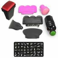 Nail Art Scraper Stamper Stamp Stamping Plate Tool Kit Set