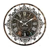 Wall Clock Tracery Vintage Rustic Shabby Art Clock Chic Home Office Cafe Decoration