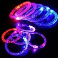 1pc Color Changing LED Light Up Bracelet Luminous Cuff Bracelet Unisex