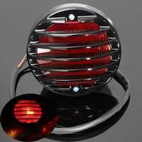 Motorcycle Tail Brake Red License Plate Light For Harley Bobber Chopper Rat
