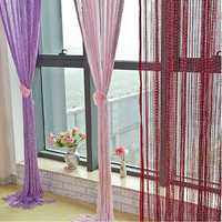 Glitter Tassel String Line Door Window Curtain Room Divider Screen Decor