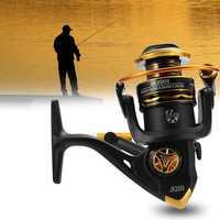 JK1000-7000 5.1/5.2:1 12BB Spinning Reels Saltwater Freshwater Left/Right Hand Fishing Reel