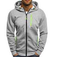 Men's Slim Multi Zipper Decorative Hoodies Sweatshirts