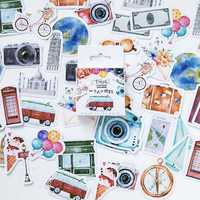 46 Pcs/bag Diy Cute Girl Papers Travel Stationery Stickers Vintage Romantic For Diary Decoration Scrapbooking
