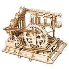 Meilleurs prix 3D Wooden Puzzle Marble Run Assembly Set Cog Magic Crush Tracks DIY Model Building Gift