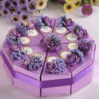 10pcs Cake Candy Gift Box Wedding Party Cake Sweet Chocolate Gift Boxes
