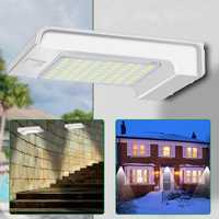 Solar Powered 72 LED PIR Motion Sensor Wall Light Outdoor Garden Security Lamp